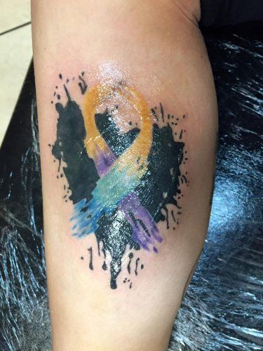 Bladder Cancer Awareness Tattoo